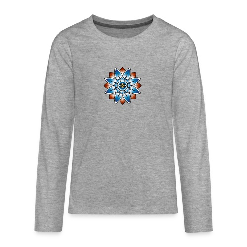 Psychedelisches Mandala mit Auge - Teenager Premium Langarmshirt