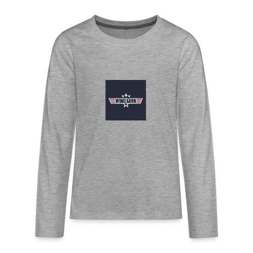 top gun wingman design - Camiseta de manga larga premium adolescente