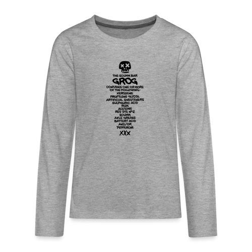 ingredientes grog ingles - Camiseta de manga larga premium adolescente