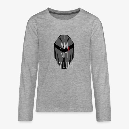 I am not a Cylon - Premium langermet T-skjorte for tenåringer