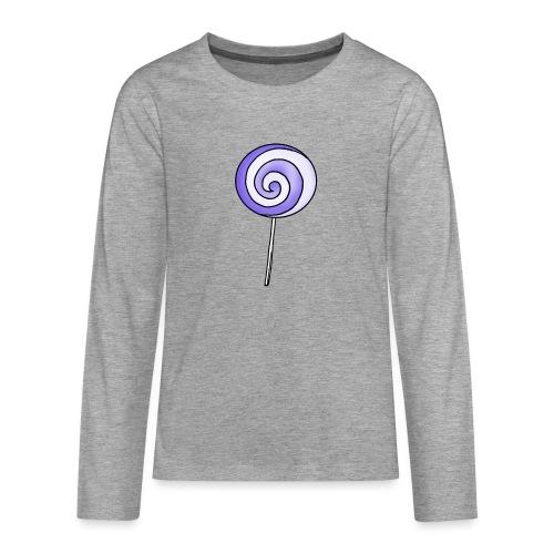 geringelter Lollipop - Teenager Premium Langarmshirt