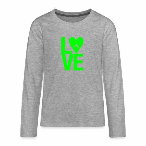 Mountain Love - Teenager Premium Langarmshirt