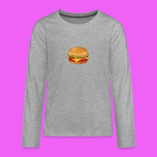 hamburguesa - Camiseta de manga larga premium adolescente