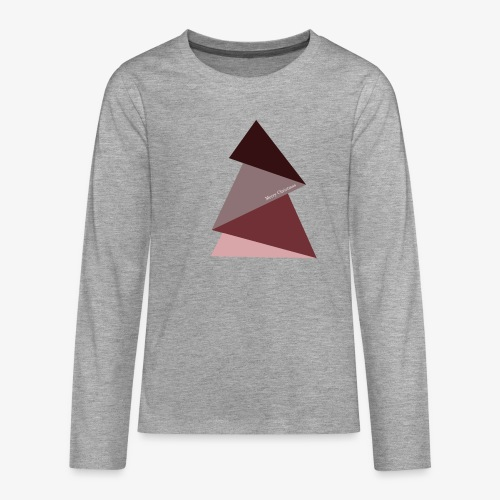 fir triangles 2 - Teenagers' Premium Longsleeve Shirt