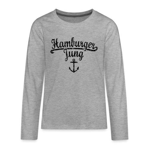 Hamburger Jung Klassik (Vintage Schwarz) Hamburg - Teenager Premium Langarmshirt