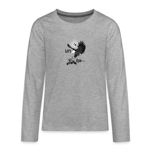 Baldeagle met een panhead - Teenager Premium shirt met lange mouwen
