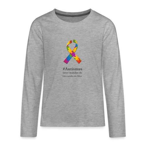 Inter-Mundos Autismus-Schleife - Teenager Premium Langarmshirt