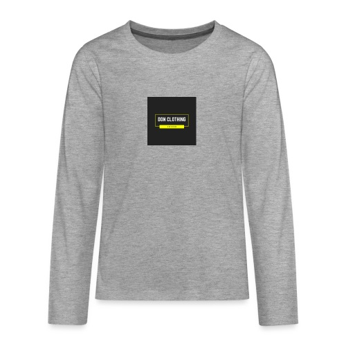 Don kläder - Långärmad premium T-shirt tonåring