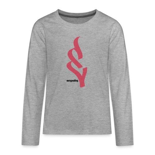 empathy e2 - Koszulka Premium z długim rękawem dla nastolatków