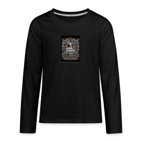 Johnny hallyday diamant peinture Superstar chanteu - T-shirt manches longues Premium Ado