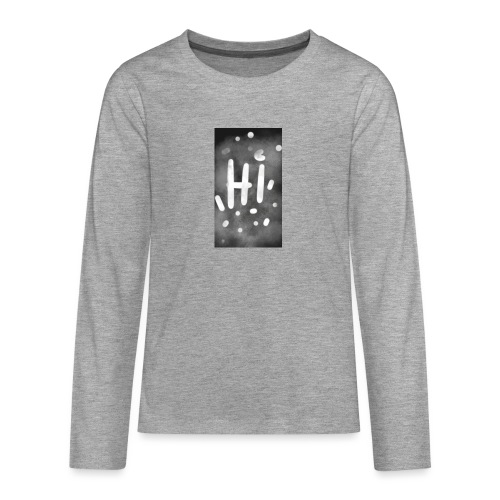 Hola o hi nublado - Camiseta de manga larga premium adolescente