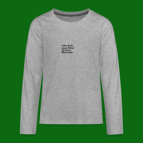 Glog names - Teenagers' Premium Longsleeve Shirt
