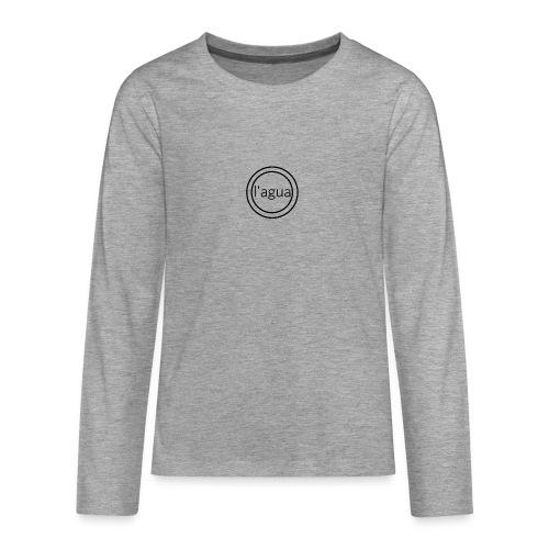 l agua black theme - Teenagers' Premium Longsleeve Shirt