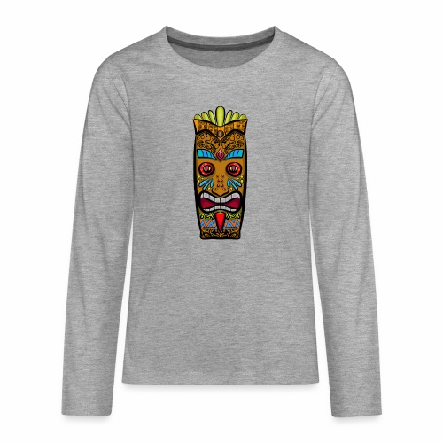 Máscara Tribal - Camiseta de manga larga premium adolescente