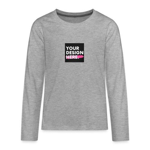 Custom-made - Långärmad premium T-shirt tonåring