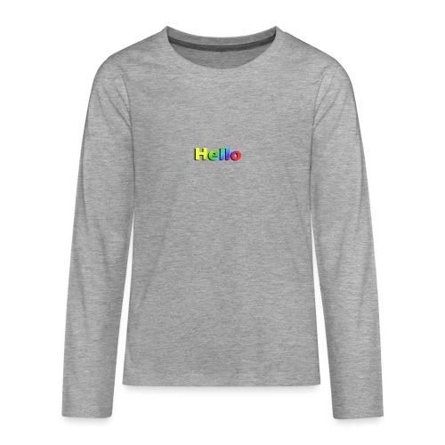 Hello - Koszulka Premium z długim rękawem dla nastolatków