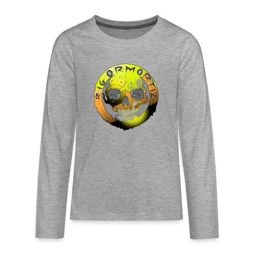 Rigormortiz Metallic Yellow Orange Design - Teenagers' Premium Longsleeve Shirt