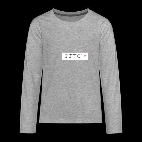 dito - Camiseta de manga larga premium adolescente