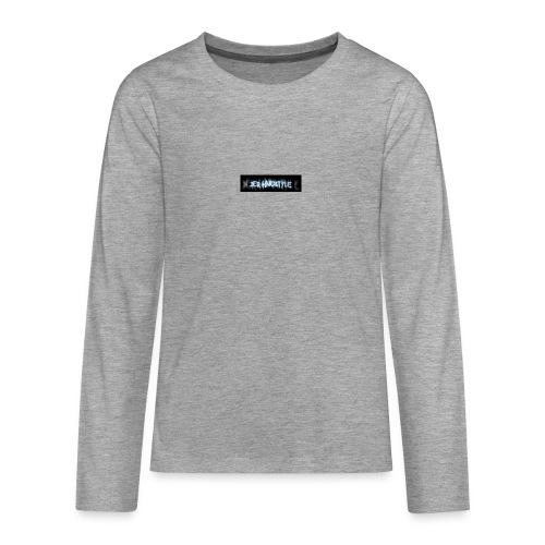 DerHardstyle.ch Kleines Logo - Teenager Premium Langarmshirt