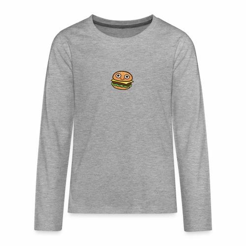 Burger Cartoon - Teenager Premium shirt met lange mouwen