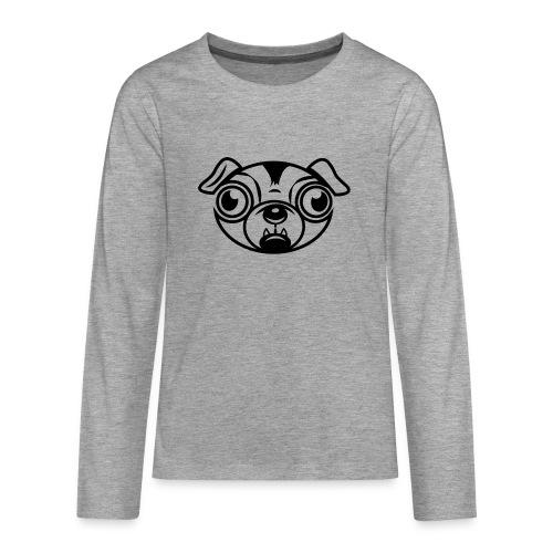 Mops - Teenager Premium Langarmshirt