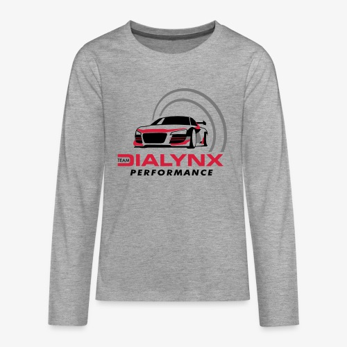 Dialynx Performance Race Team White Range - Teenagers' Premium Longsleeve Shirt