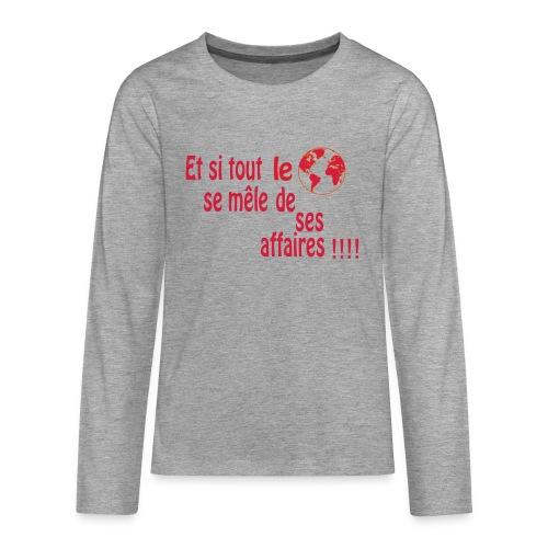 BNT création - T-shirt manches longues Premium Ado