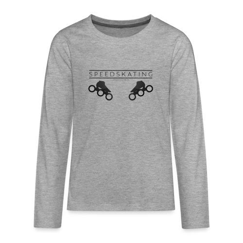 Speedskating Professional Black - Teenager Premium Langarmshirt