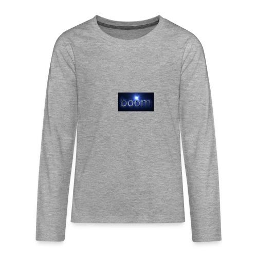 BOOOM - Koszulka Premium z długim rękawem dla nastolatków