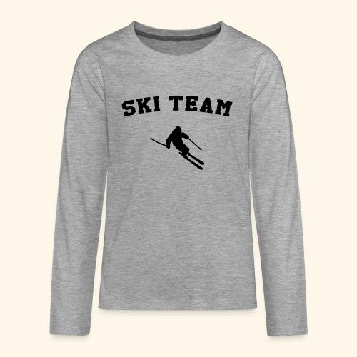 ski team - T-shirt manches longues Premium Ado