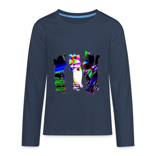 Les chats - T-shirt manches longues Premium Ado