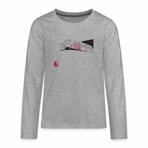 2wear Trains ver01 - Teenager premium T-shirt med lange ærmer
