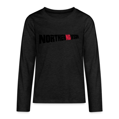 nd badg 2vari perspective - Teinien premium pitkähihainen t-paita