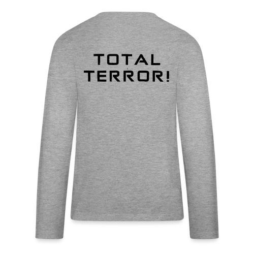 Black Negant logo + TOTAL TERROR! - Teenager premium T-shirt med lange ærmer