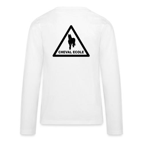 chevalecoletshirt - T-shirt manches longues Premium Ado