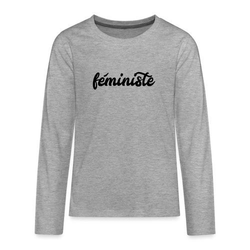 féministe - T-shirt manches longues Premium Ado