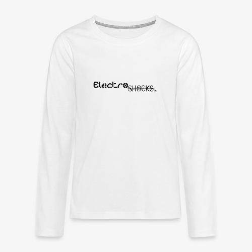 ElectroShocks BW siteweb - T-shirt manches longues Premium Ado