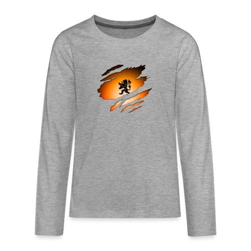 Dutch Inside: Leeuw - Teenager Premium shirt met lange mouwen