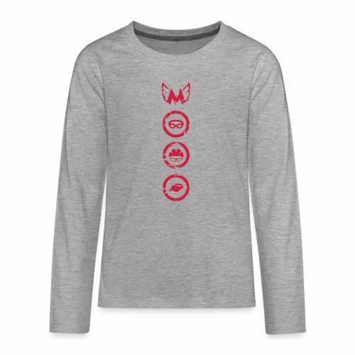 Mosso_run_swim_cycle - Maglietta Premium a manica lunga per teenager