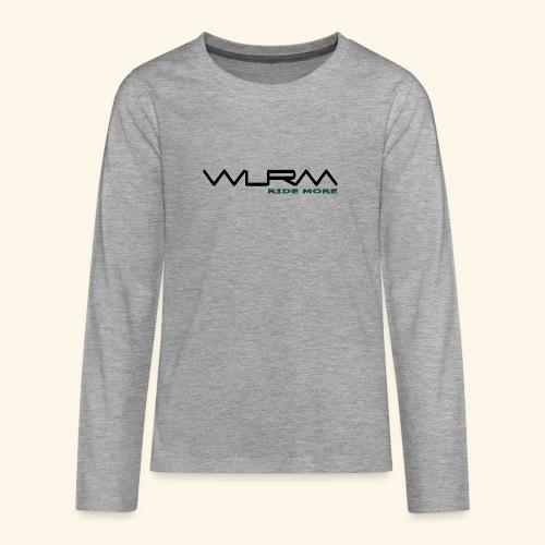 WLRM Schriftzug black png - Teenager Premium Langarmshirt