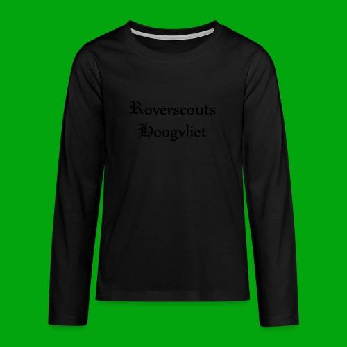 Rover logo en Tekst, Je kan zelf naam toevoegen - Teenager Premium shirt met lange mouwen