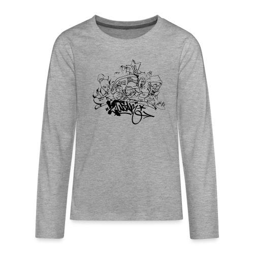 Hip Hop Jam - Teenager premium T-shirt med lange ærmer