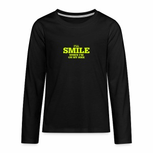 i will smile - Teenager Premium Langarmshirt