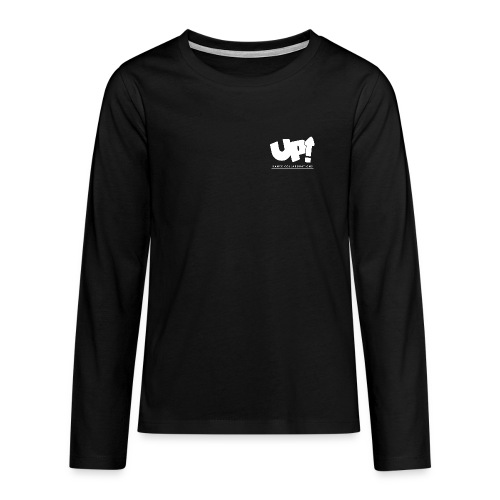 Up Dance White Logo - Teenagers' Premium Longsleeve Shirt