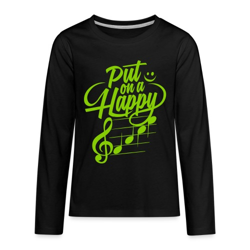 happy face colorize - Teenager Premium Langarmshirt