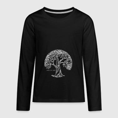 Arbre de vie Arbre de vie spirituelle Cadeau - T-shirt manches longues Premium Ado