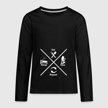 randonnée alpinisme nature idée cadeau - T-shirt manches longues Premium Ado