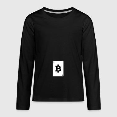 Spielkarte Bitcoin - Teenager Premium Langarmshirt