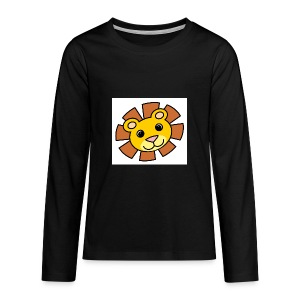 funimals_lejon_f--rg_-2- - Långärmad premium-T-shirt tonåring