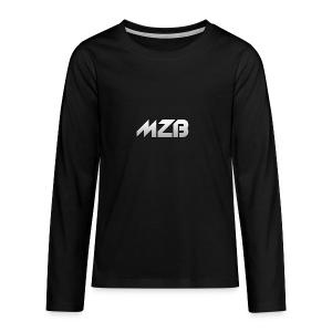 MZB Logo Design For Merch - Teenagers' Premium Longsleeve Shirt